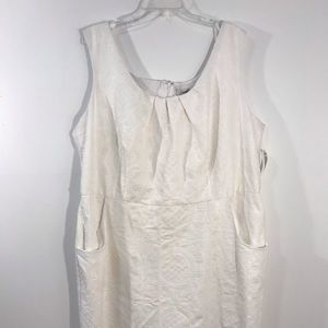 Dress Barn White Textured Sleeveless Dress Sz. 22W